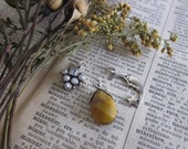 Sterling Silver Blue stone, Pearl , Tiger's Eye teardrop, Crescent Moon and Star charm destash