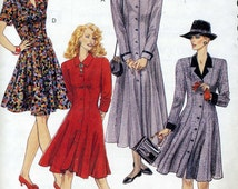McCalls 6187 UNCUT Misses Fit and Flare, Princess Seam Coat Dress Sewing Pattern Sizes 20-24 Bust 42-46