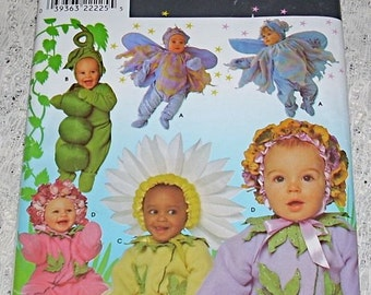 Pattern Baby Toddler Flower Costume Simplicity 0639 Uncut Child Fairy Daisy Peas Novelty Sizes Half 1 2 3 4 Sewing Sew Handmade