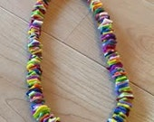 Felt necklace to pull over head