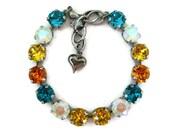39ss Swarovski Crystal Bracelet Mix Rhinestone Tennis Bracelet, Rhinestone Bracelet , Pick Your Metal Finish Great Gift