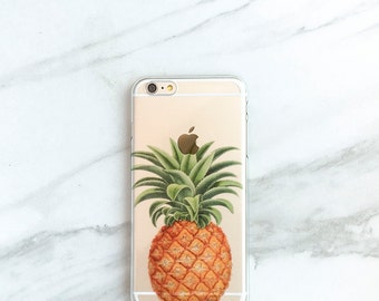 Pineapple iPhone 7 Case Clear Tropical iPhone 6S, Plus, Transparent Beach Style