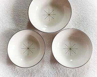 Vintage Modern Star Pattern Bowls Set of 3