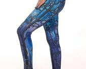 Forest Preachers, limited edition, artist designed,  printed leggings, yoga pants, handmade leggings, by Plastik Wrap. All sizes