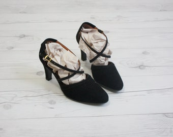 1950s strappy pumps / size 5 1/2