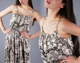 VINTAGE Leo Narducci Dress / 70s Disco Dress /Psychedelic Print Bubble Dress / Deadstock New Old Stock