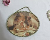 Picture In Suspense Hanging Chain 5 x 6 inches Oval Flue Cover