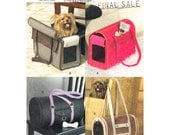 Pet Carrier Pattern Vogue 8015 Small Pet Carrier Screening Window Dog Accessories Sewing Pattern UNCUT