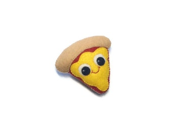 Pizza Pin - Junk Food Pin - Pizza Jewelry - Felt Food - Pizza Charm  - Pizza Brooch - BFF jewellery - Kawaii Pins - Pizza Lover Gift