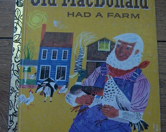 little golden book OLD MACDONALD Had  A Farm  1960 / 1978 children picture book