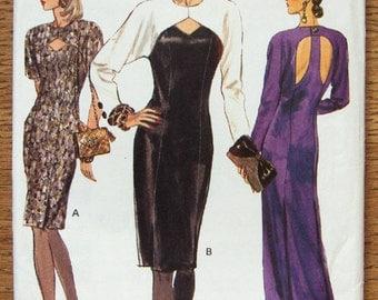 vintage 1990 vogue pattern 7918 misses evening special occasion dress 2 lengths   sz 14-16-18 uncut