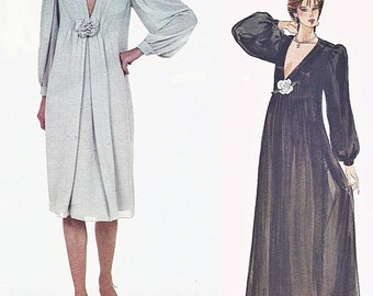 1980s Vogue 2984 Uncut (16) Misses Dress Pattern Cocktail or Evening JERRY SILVERMAN Designer 1983 Womens Vintage Sewing Pattern 80s UNCUT