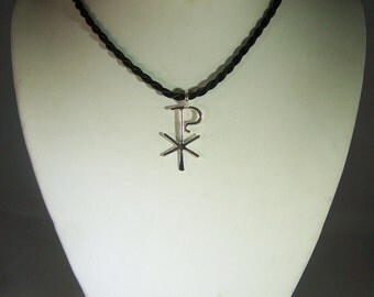 Handmade Chi Rho Silver Pendant