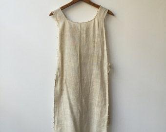 Edwardian linen apron