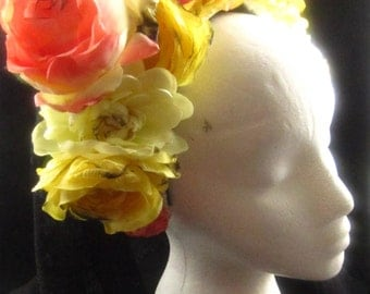 OOAK Full Bloom Headdress for Day of the Dead/Wedding/Cospay