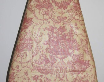 Ironing Board Cover, Vintage Looking Toile, Yellow Pink