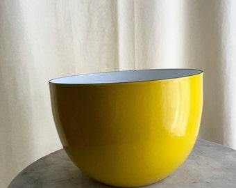 Vintage Arabia Finland Finel Bowl Kaj Franck Enameled Yellow