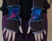 Grateful Dead Arm Warmers Turquoise Brown Glow Tie Dye 13 pt Bolt Fall Christmas