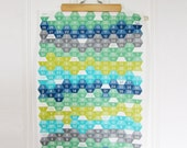 Sale * 2016 Calendar Tea Towel. Geometric Hexcode Seaside Design. Blue. Green