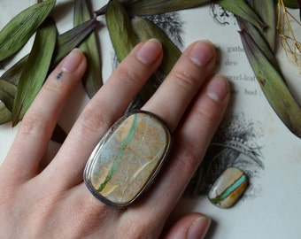 Steady Stream Turquoise Statement Ring