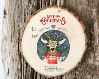 Gift for Teacher - Teacher Ornament - Boxing Week SALE - 5 Dollars OFF - Modern Christmas Ornament