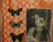 Butterfly Smiles original mixed media art