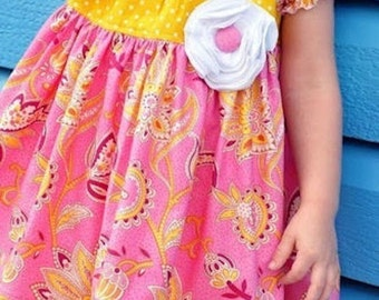Girls Boutique Dress Juvie Moon Designs PDF Download Pattern TILLY  E Book Tutorial