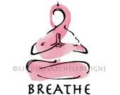 Yoga art print - BREATHE