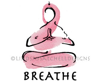 Yoga art print - BREATHE