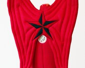 Nautical Star Wings. 2 Sizes. Red, Black Pirate Fairy. Felt, No Wire.