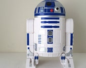 "Vintage R2-D2 Star Wars Action Figure Carrying Case and Playset with Rolling Destroyer Droid Figure - 12"" Tall with Battle Playset Inside"