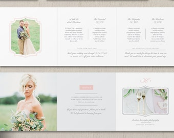 Photography Pricing Guide Trifold Template - Wedding Photographer Pricing List - Photography Pricing Guide Template - Investment Guide