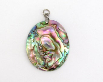 Abalone Shell Pendant, Abalone Pendant, Shell Resort Charm Dangle, Beading Jewelry Crafting Supply