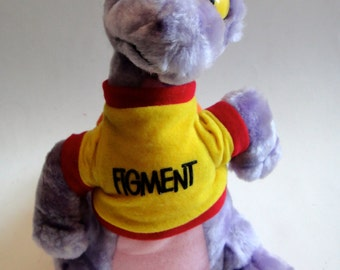 Vintage 1980's EPCOT Large Figment the Purple Dragon Plush - Walt Disney World