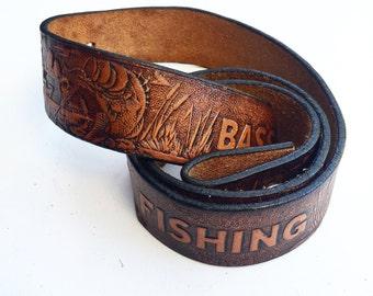Vintage Western Bass Fishing Belt