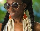 Sunset Fringe- Bohemian gypsy Statement earrings