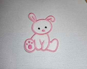 Free Shipping  Ready To Ship    Easter Rabbit Machine Embroidery iron in applique