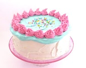 MAKE A WISH Birthday Cake Fake Cake To Blow Out Candles To Celebrate A Birthday ,Great Prop For Any Birthday Party at Home and at school