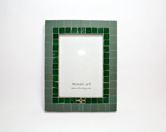 Mosaic Photo Frame | Unique artistic frame | Total size-- 19,2 x 24,2cm (7,5 x 9,5 in). Photo size--13 x 18 cm (5 x 7 in)