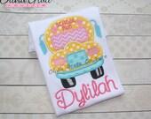 Cute Bus Shirt, Girls Back to School Shirt, Boys Back to School Shirt, Back to School Embroidered Shirt , 1st grade, Kindergarten, preschool
