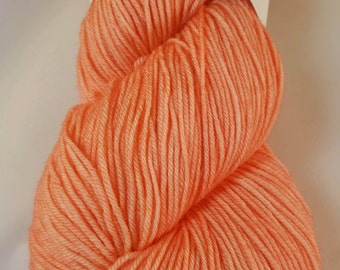 You're A Peach! colorway: Glad Rags 100% Superwash Merino, 100 grams, 438 yards, hand-dyed sockweight