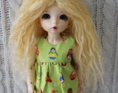 Lovely Light Yellow mohair wig for Littlefee / other YoSD sized / Unoa / Enyo doll