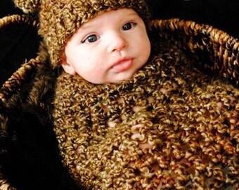 Newborn Photo Prop Teddy Bear - Baby Bear Newborn Outfit - Bear Newborn Prop - Baby Bear Clothes -  Baby Bear Outfit - Newborn Photo Prop
