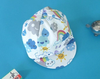 Toddler/Kid Cycling Cap- Happy Weather Fabric