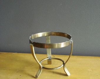 Three Legs Up - Vintage Brass Mini Plant or Mini Cake Stand - Small Brass Stand