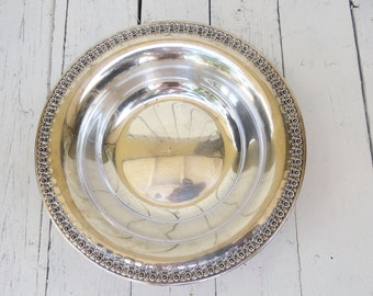 Vintage Silverplate Bowl, Ornate Bowl, Holloware, Silver Decor, Serving Piece, Serving Dish, Rose Marie Pattern, Wilcox Silver