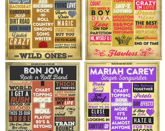 Favorite Song Poster | Favorite Singer/Band Poster| Digital Poster | Printable Poster