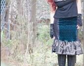 Skirt - Steampunk - Bohemian - Burning Man - Playa Wear - Gypsy - Gothic Fashion - Boheme - Sexy - Short Skirt - Size X- Small