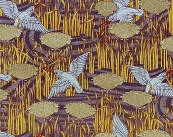 antique french art nouveau wallpaper design kingfisher and flowers illustration digital download