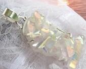Sunshine Crystals Druzy - Large Crystal Formation - Sterling silver- Necklace  DD 8792